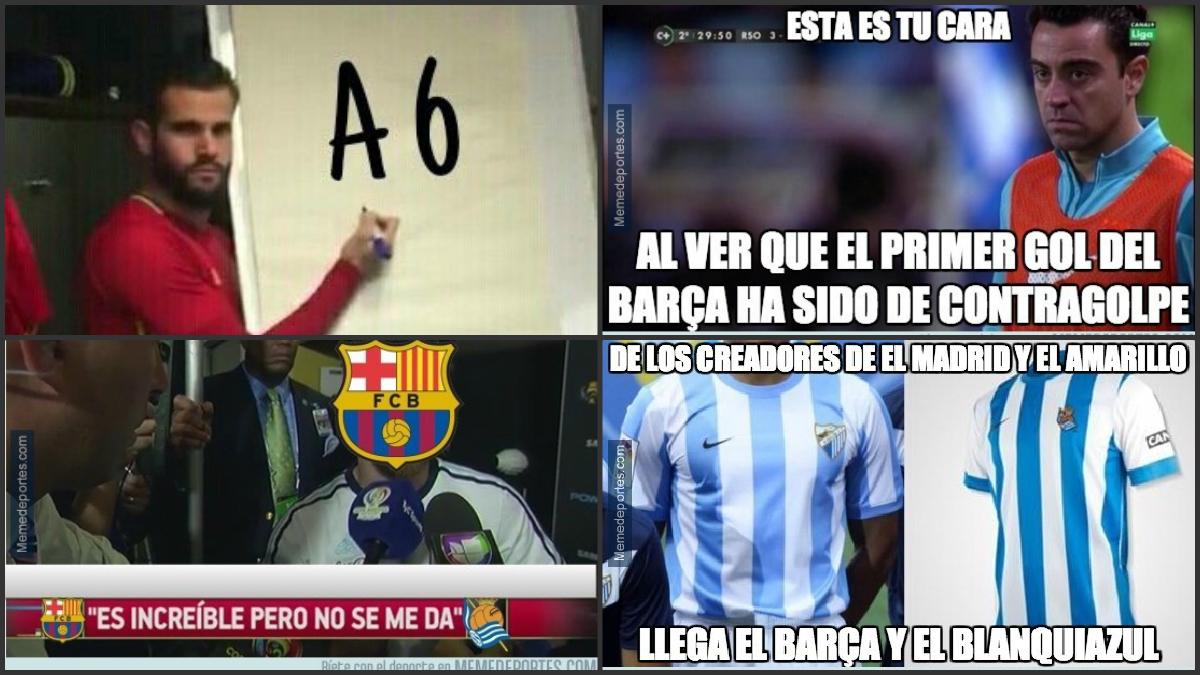 Los mejores memes del Barcelona Vs Real Sociedad.