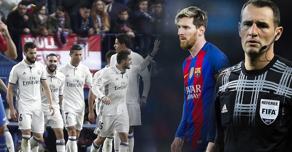 El árbitro Clos Gómez nunca ha beneficiado al Real Madrid en sus decisiones.