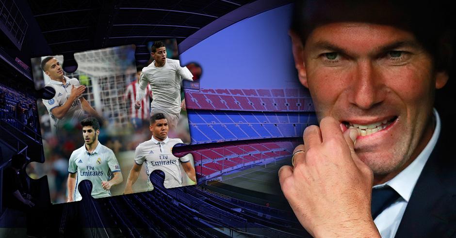 Zinedine Zidane tiene dudas en un puesto para el Clásico.