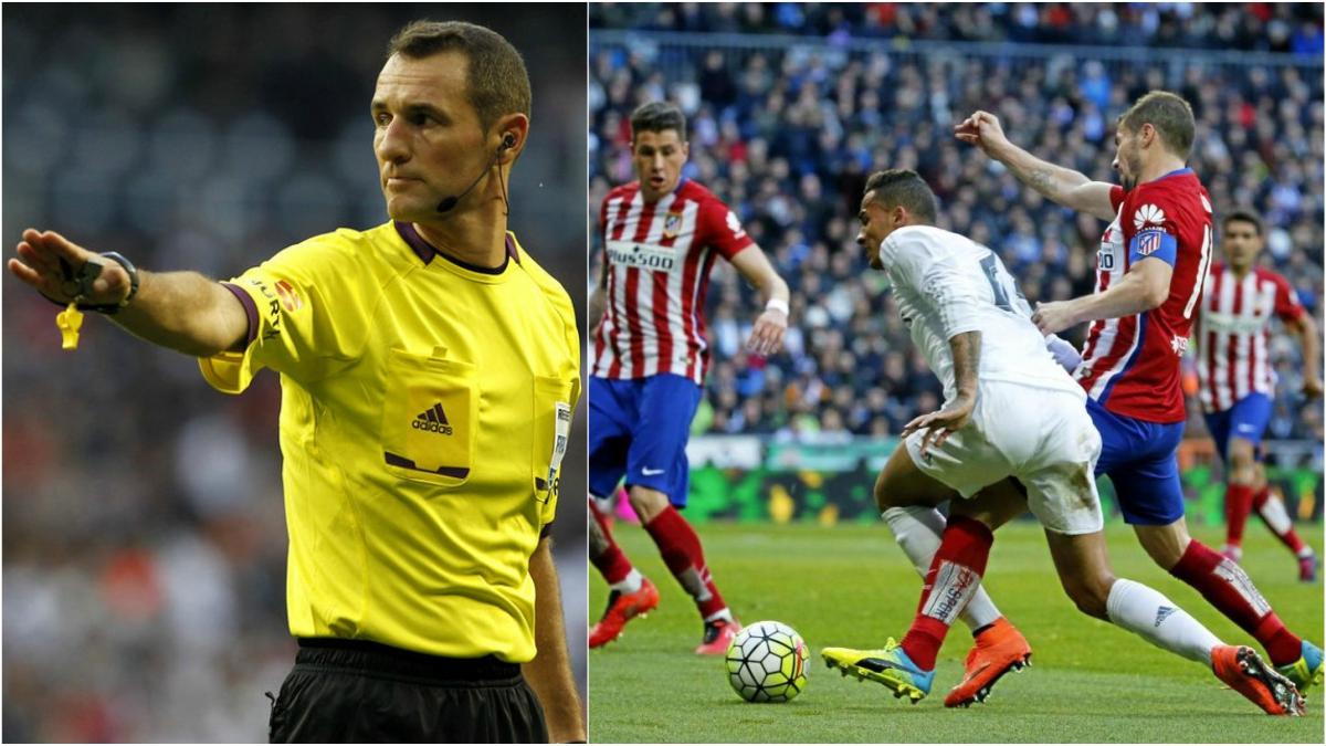 Clos Gómez no señaló un claro penalti de Gabi a Danilo en ese derbi madrileño.