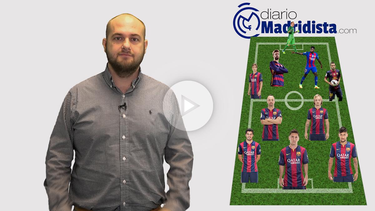 La alineación del Barcelona presenta el regreso de Iniesta y Umtiti como principales novedades.