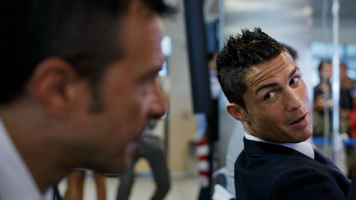 Jorge Mendes, junto a Cristiano Ronaldo. (Getty)