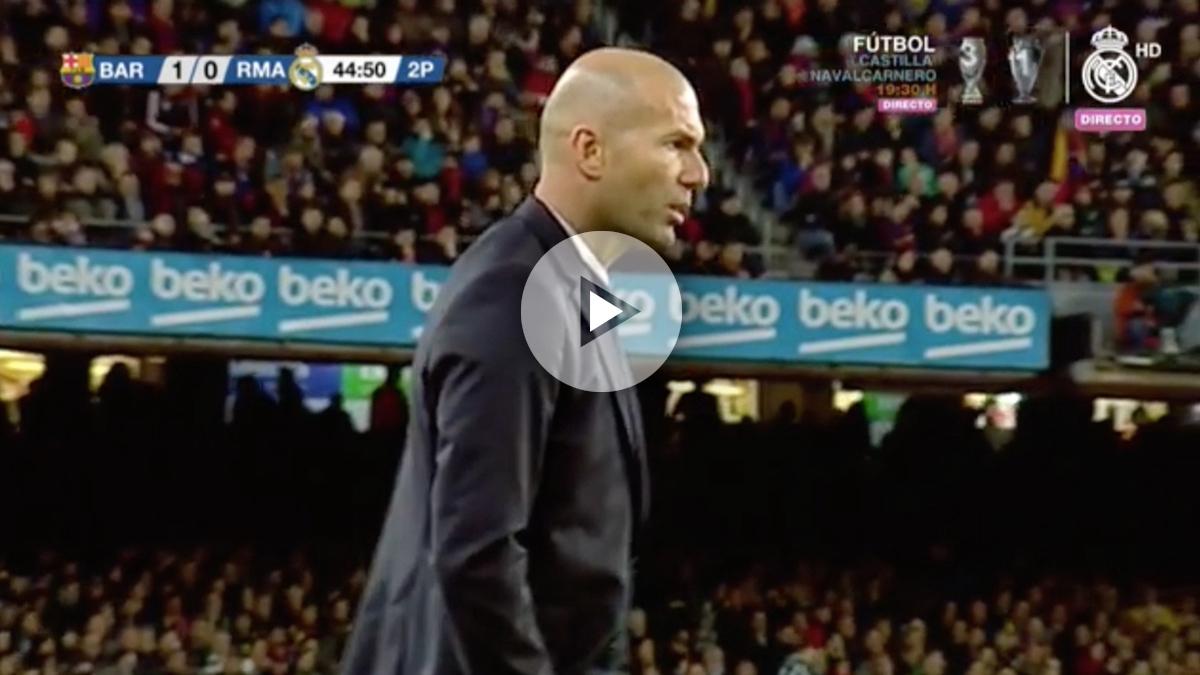 A Zidane no le sorprendió para nada la diana de Sergio Ramos.