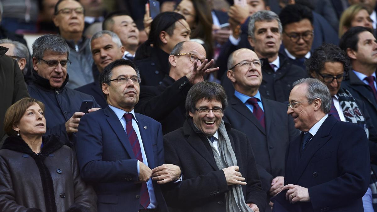 Algunas de las personalidades que estuvieron en el Palco del Camp Nou.