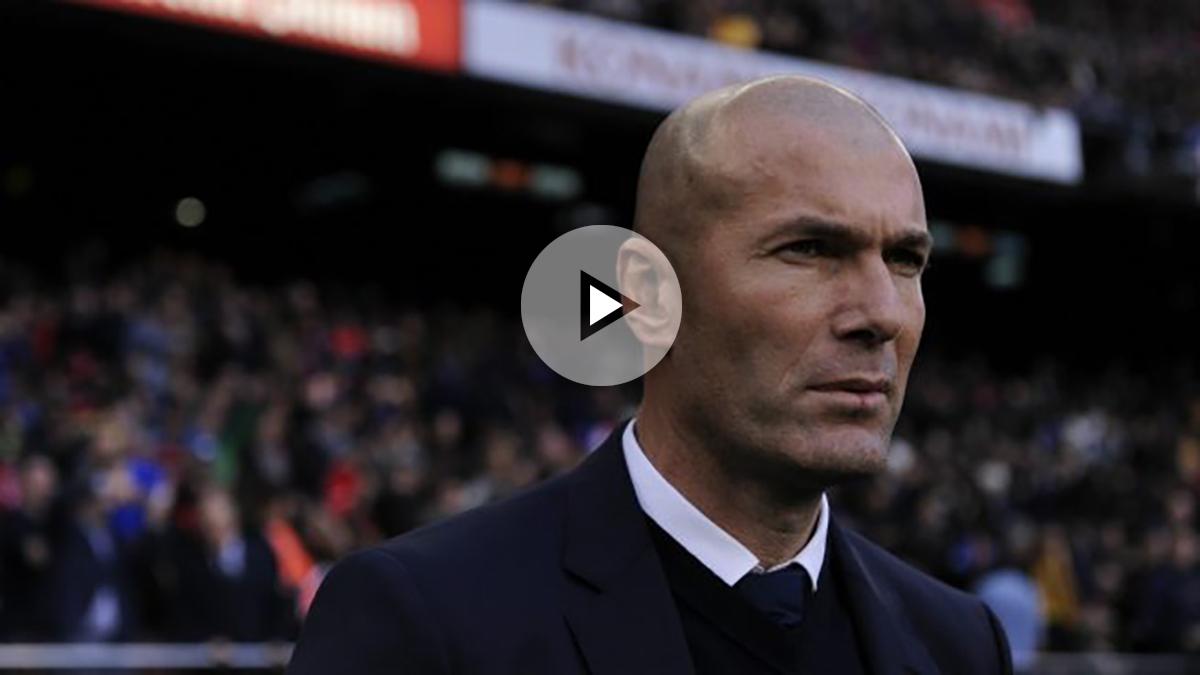 Zidane, en el partido del Camp Nou. (AFP)