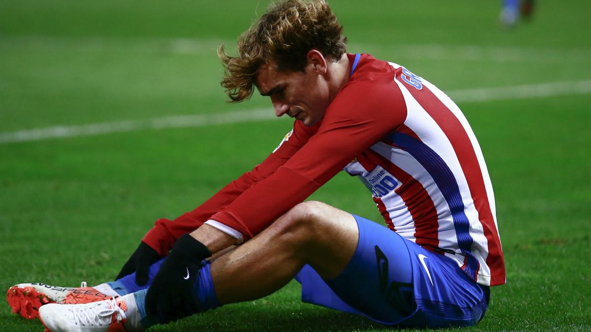Griezmann se lamenta tras una ocasión fallada ante el Espanyol. (Getty)