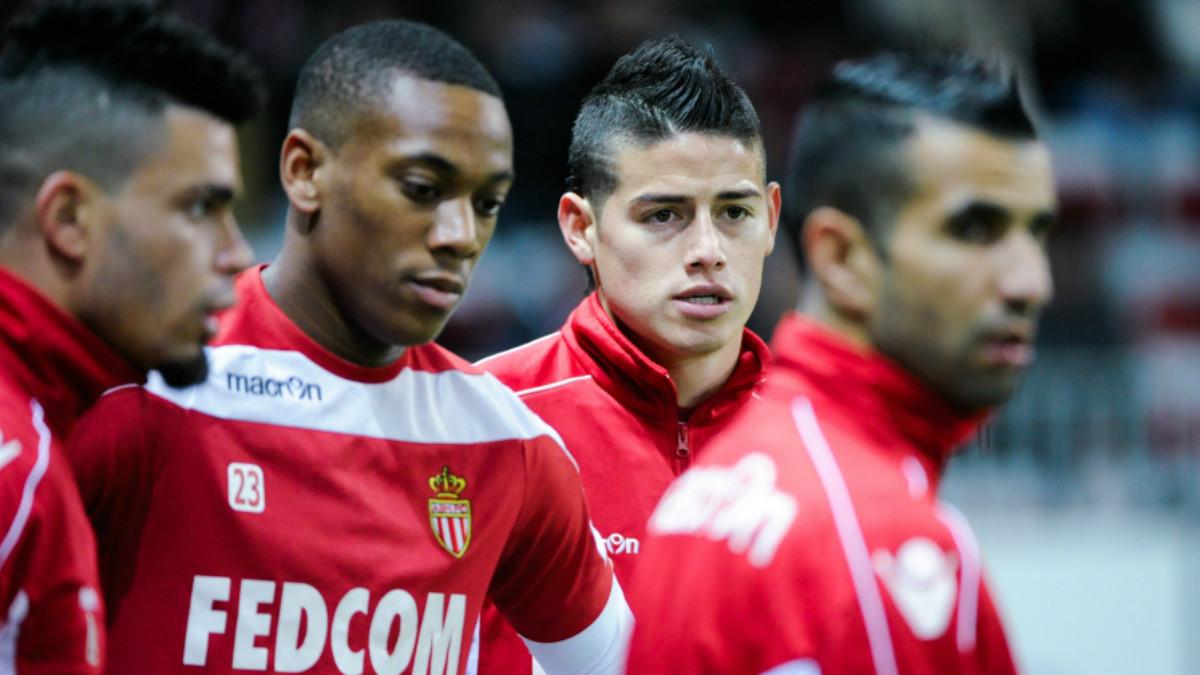 James y Martial coincidieron en Mónaco en la temporada 2013-14.