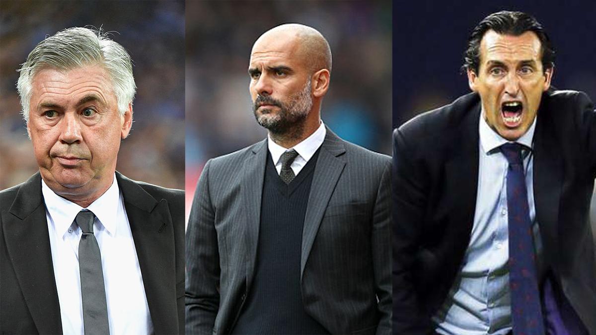 Si el Real Madrid es primero, los cocos son Ancelotti, Guardiola y Emery