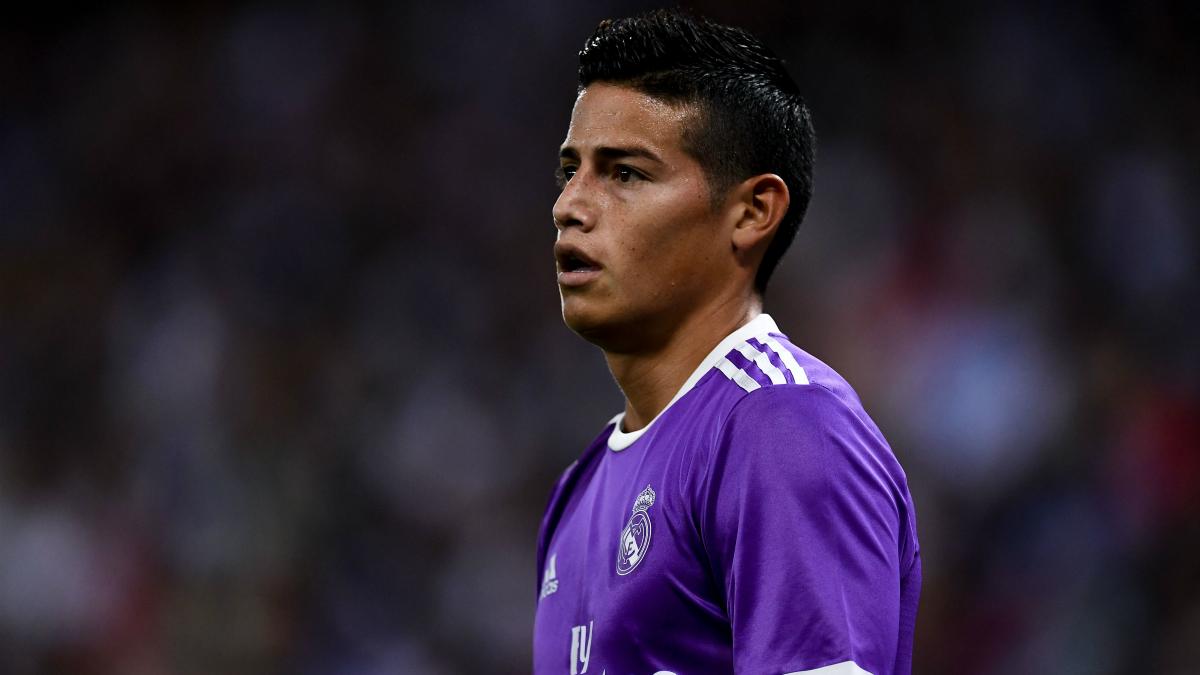 James, en un encuentro con el Real Madrid. (Getty)