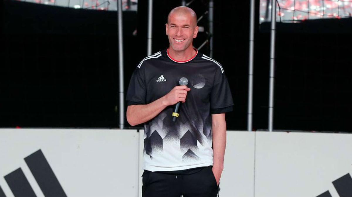 Zidane, en un acto de Adidas. (Realmadrid.com)