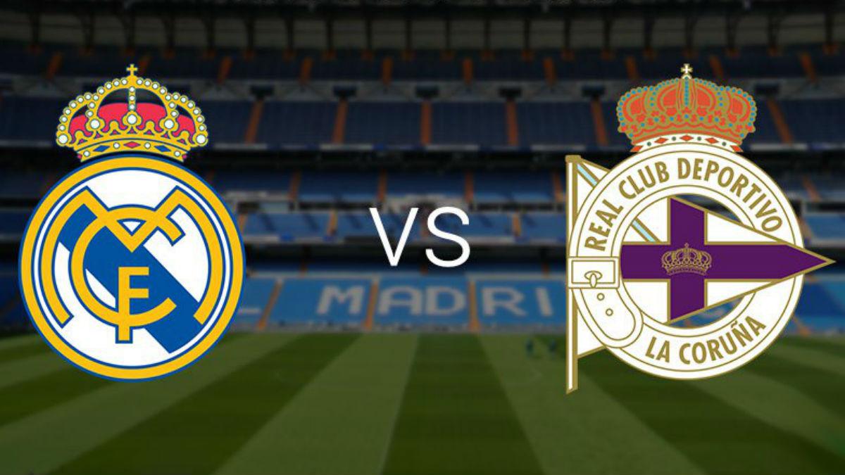 Real Madrid Vs Deportivo de La Coruña.