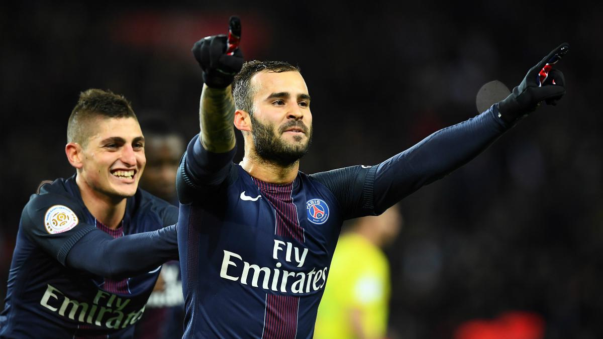 Jesé celebra un gol con el PSG. (AFP)