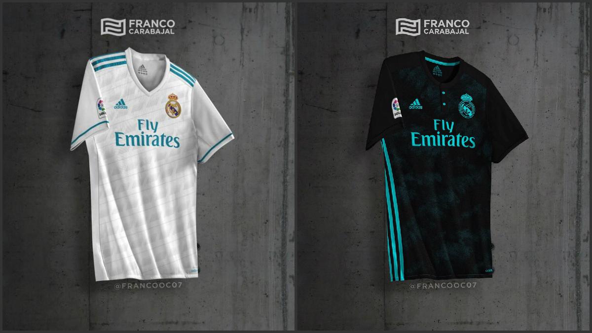 Las camisetas del Real Madrid para la próxima temporada.