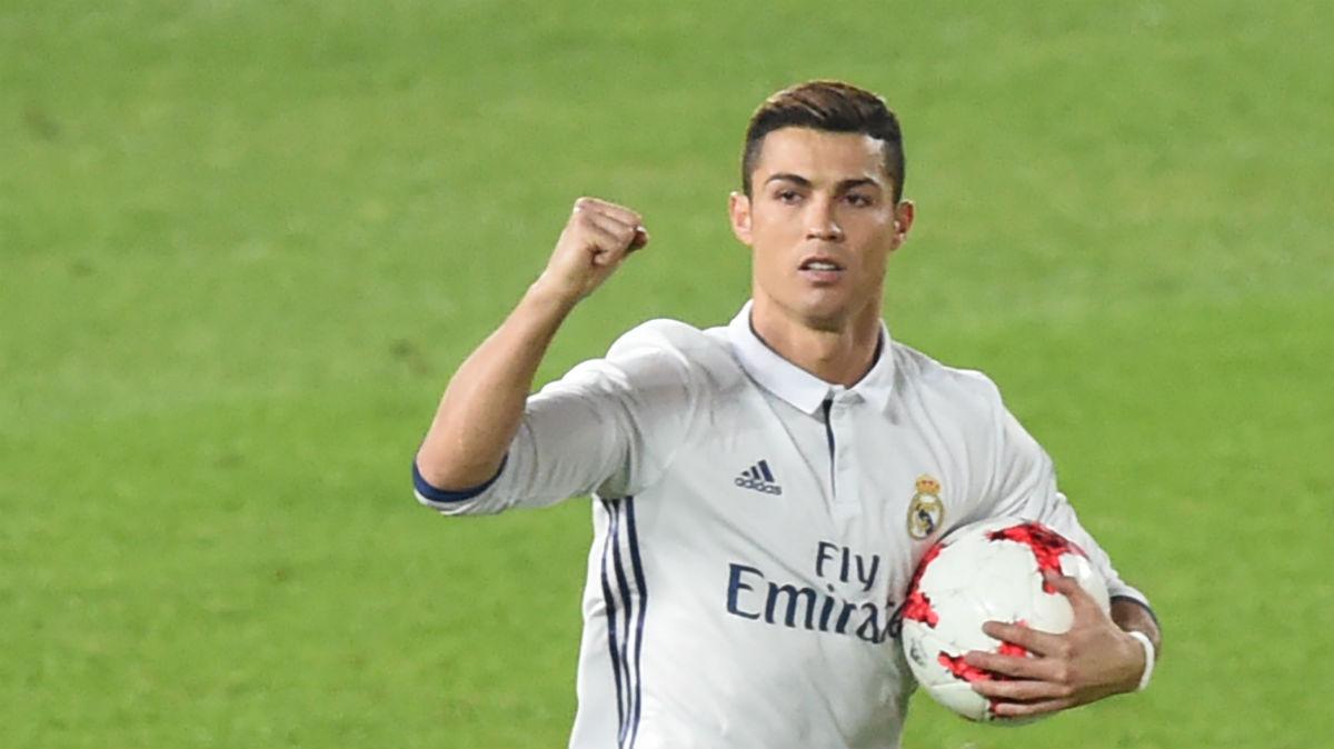 Cristiano celebra su primer gol ante el Kashima.