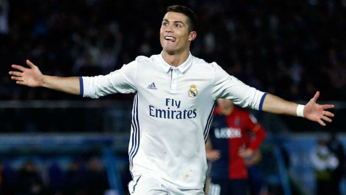Cristiano Ronaldo celebra uno de los goles de la final. (Realmadrid.com)
