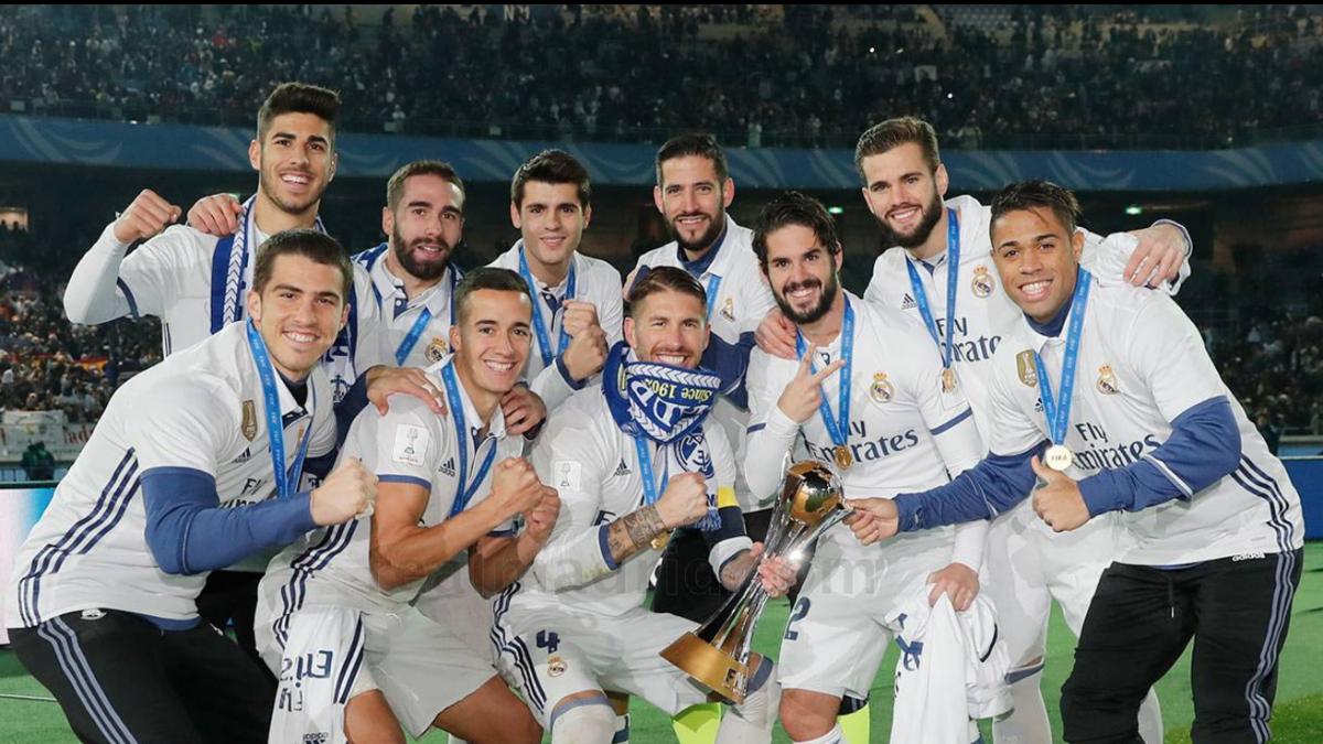El Real Madrid celebra el Mundial de Clubes. (Realmadrid.com)