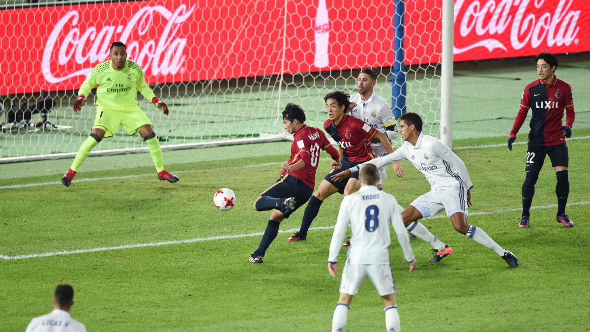 Shibasaki marca el primer gol del Kashima japonés. (AFP)