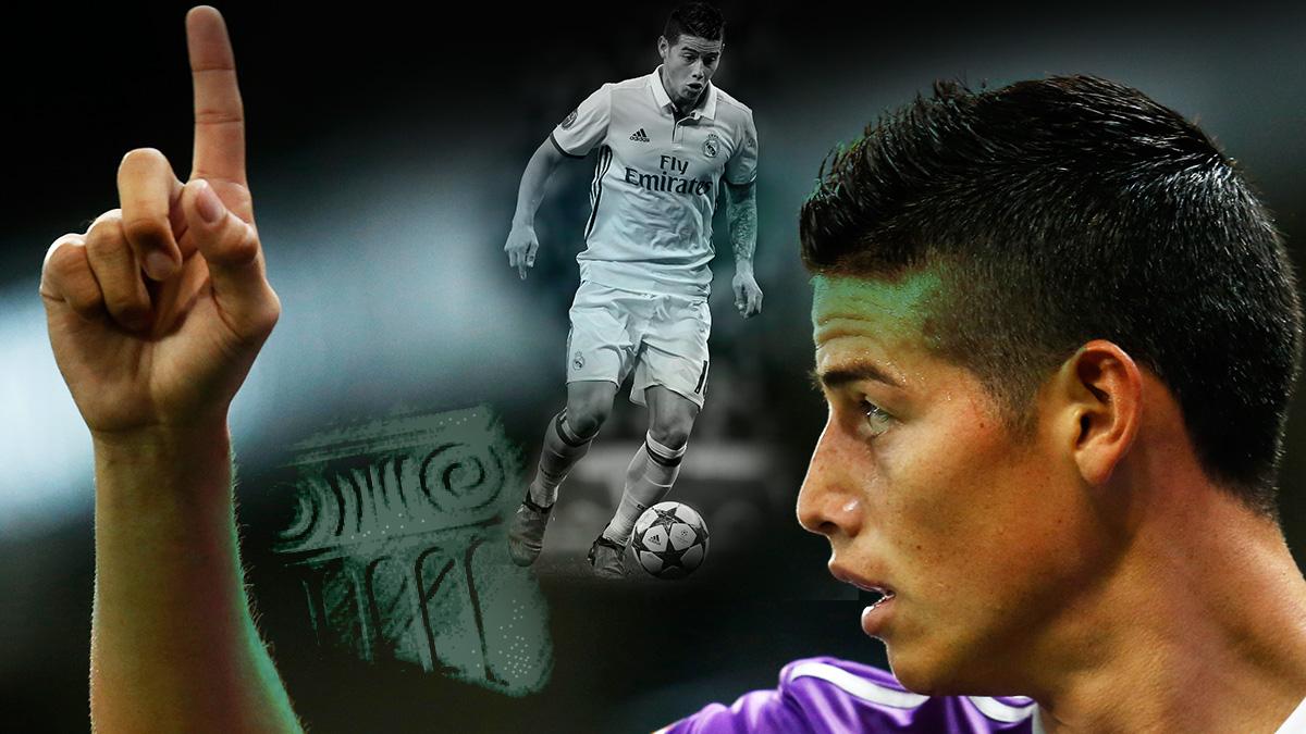 James Rodríguez tiene un futuro incierto en el Real Madrid.