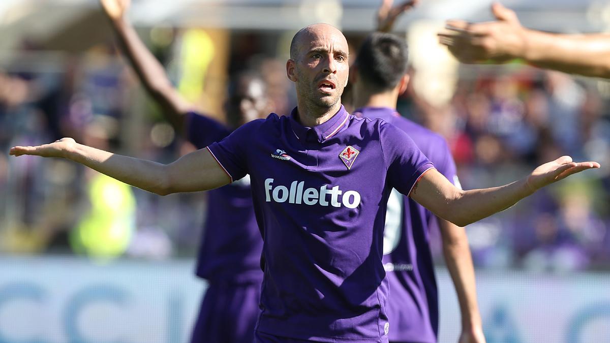 Borja Valero, durante un partido de la Fiorentina.