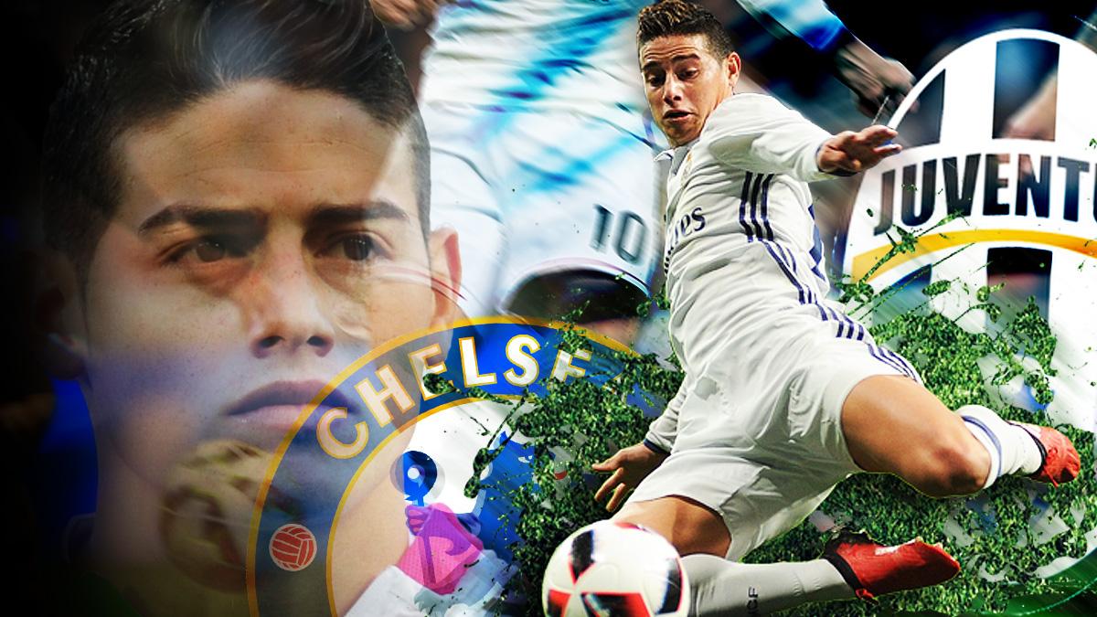 El Chelsea y la Juventus intentarán el fichaje de James Rodríguez.