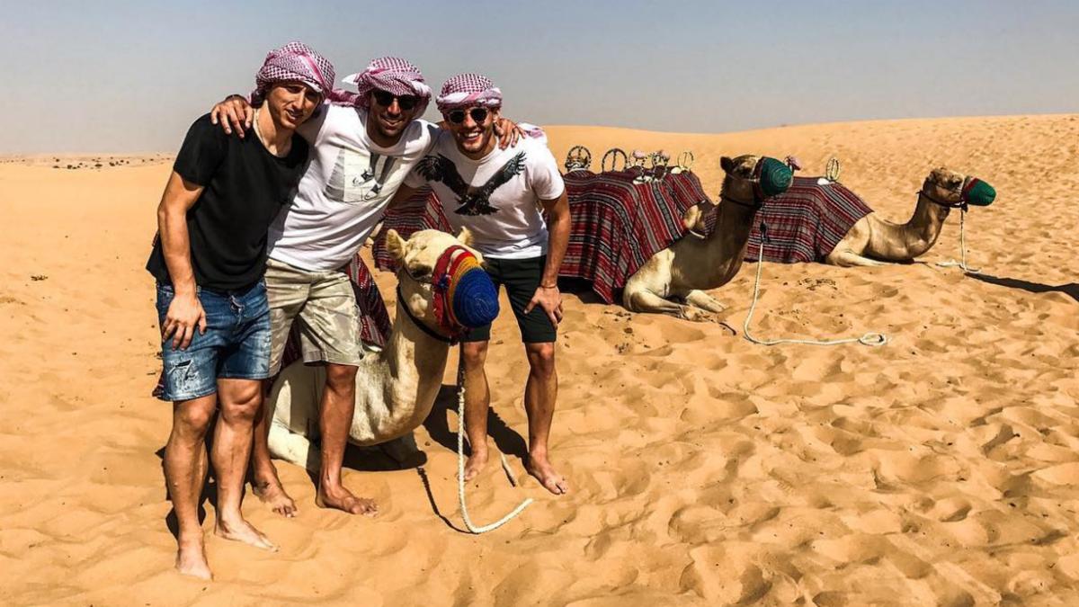 Modric, Kovacic y Srna de vacaciones en Dubai. (Instagram)