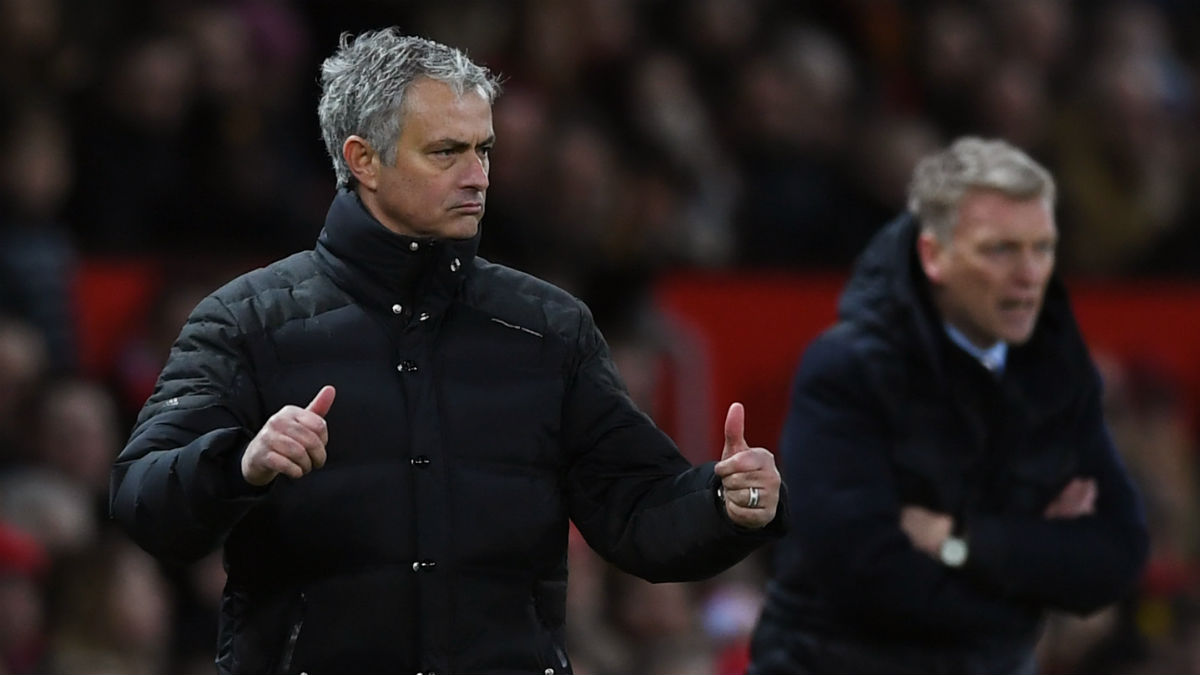 Mourinho ganó la partida a Moyes. (Getty)