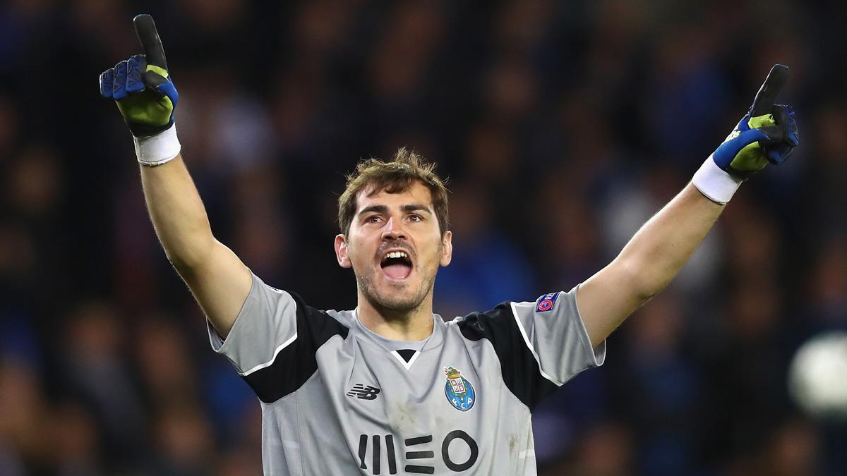 Iker Casillas, celebrando una victoria del Oporto.