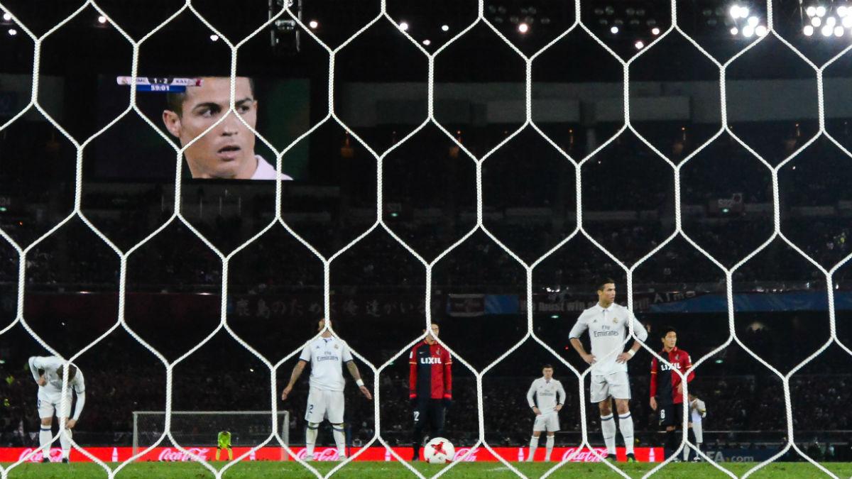 Cristiano Ronaldo, en la final del Mundial de Clubes. (Getty)