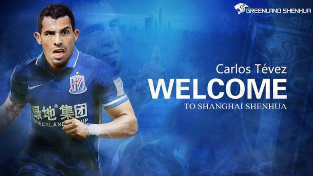 Carlos Tévez, nuevo jugador del Shanghai Shenhua.