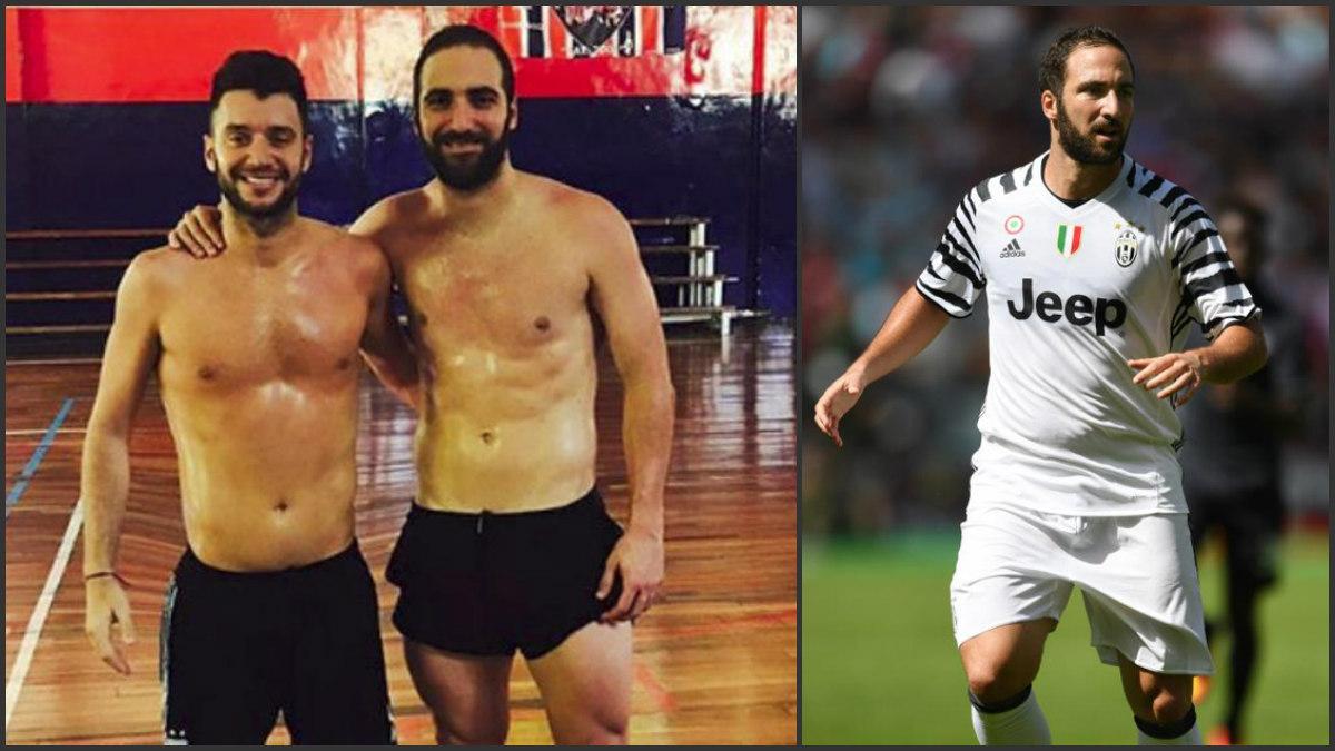 Gonzalo Higuaín habría adelgazado una gran cantidad de kilos en apenas unos meses.