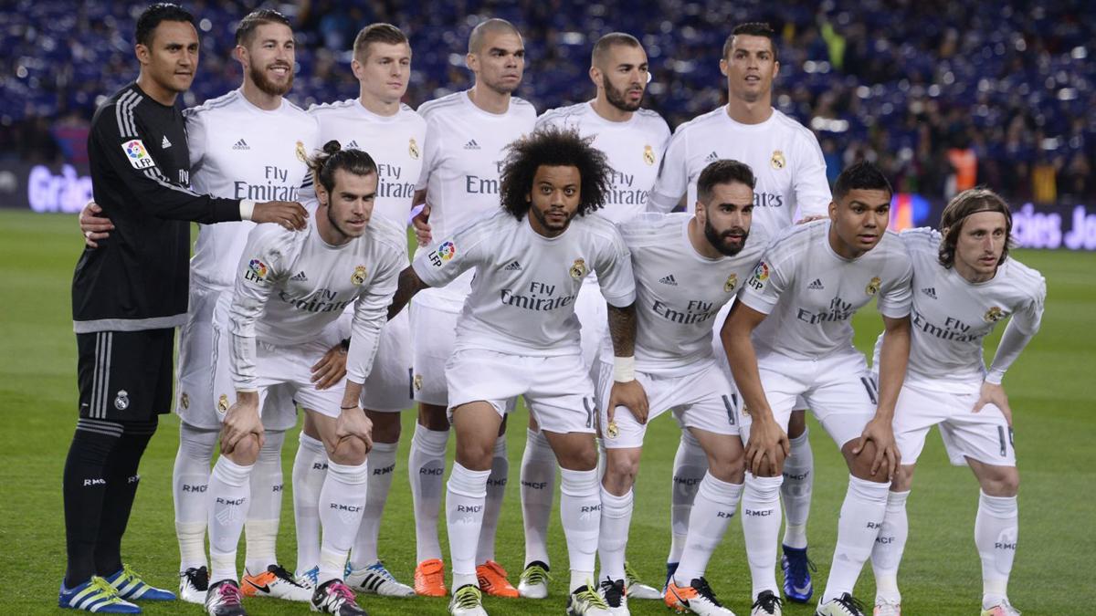 La alineación de gala de Zidane.