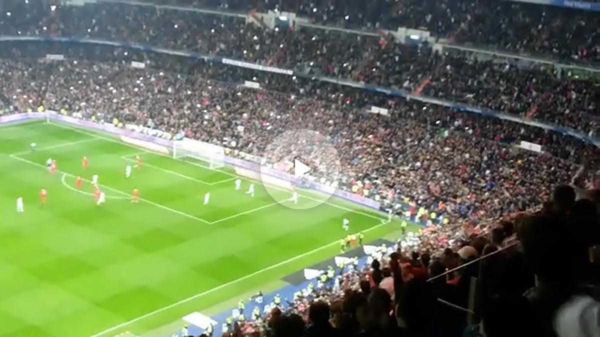 El Santiago Bernabéu vibró con el segundo gol de James.