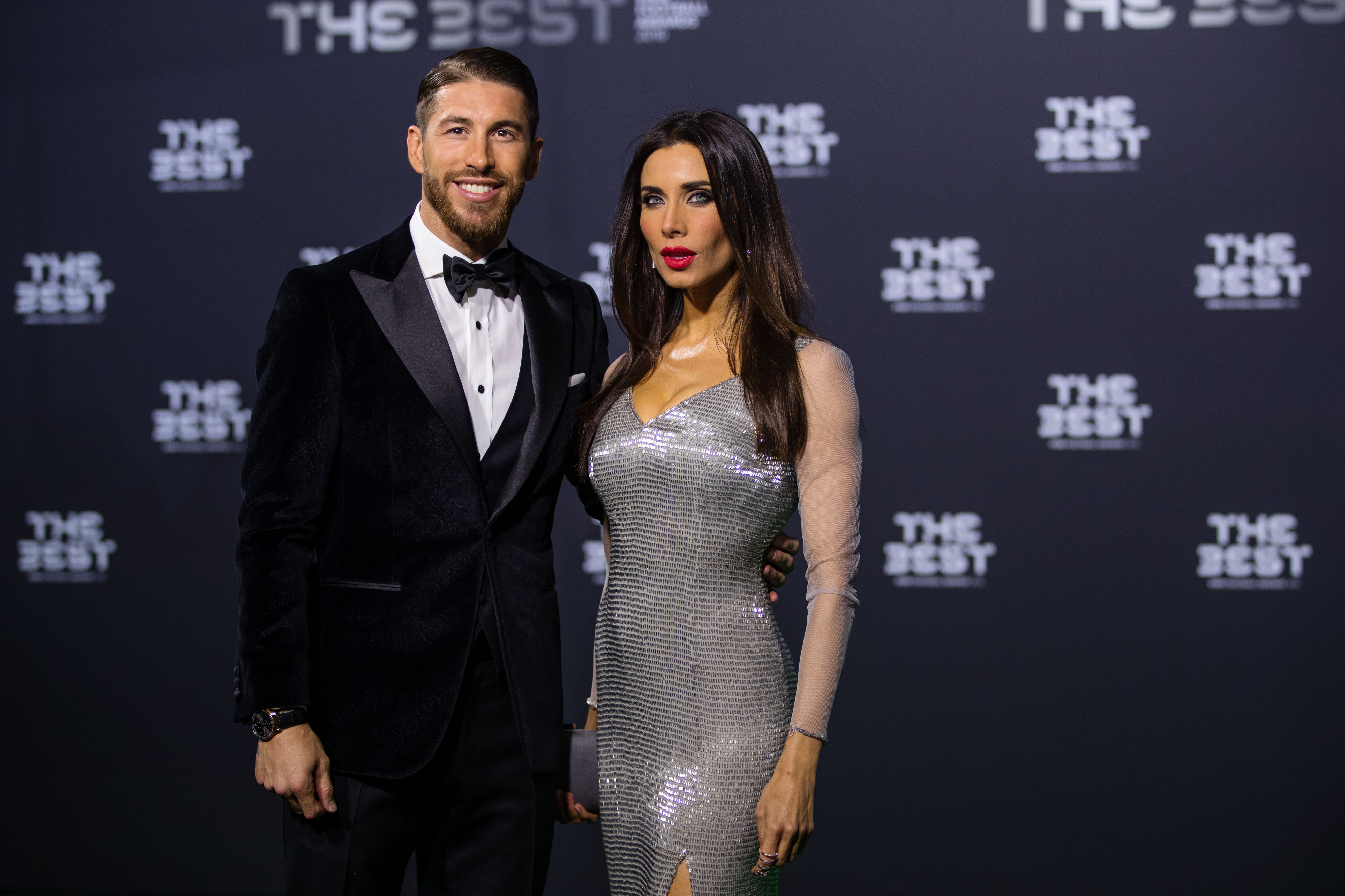 Sergio Ramos junto a Pilar Rubio en la gala de la FIFA.