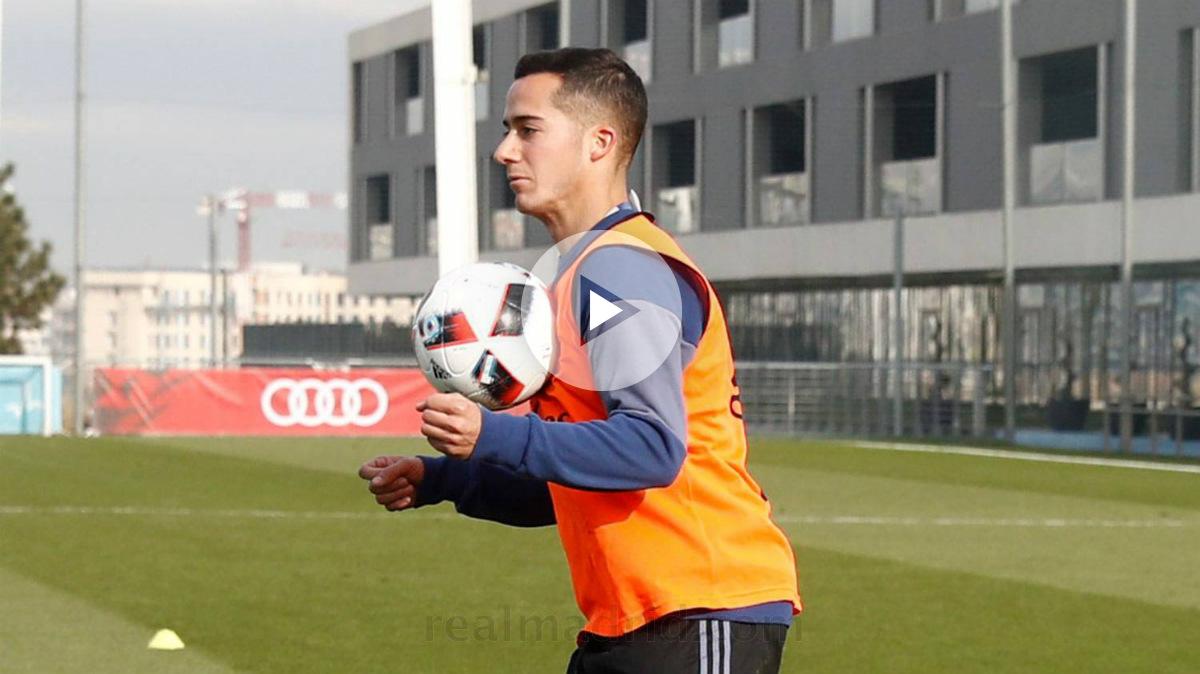 Lucas Vázquez volvió al grupo tras su lesión. (realmadrid.com)