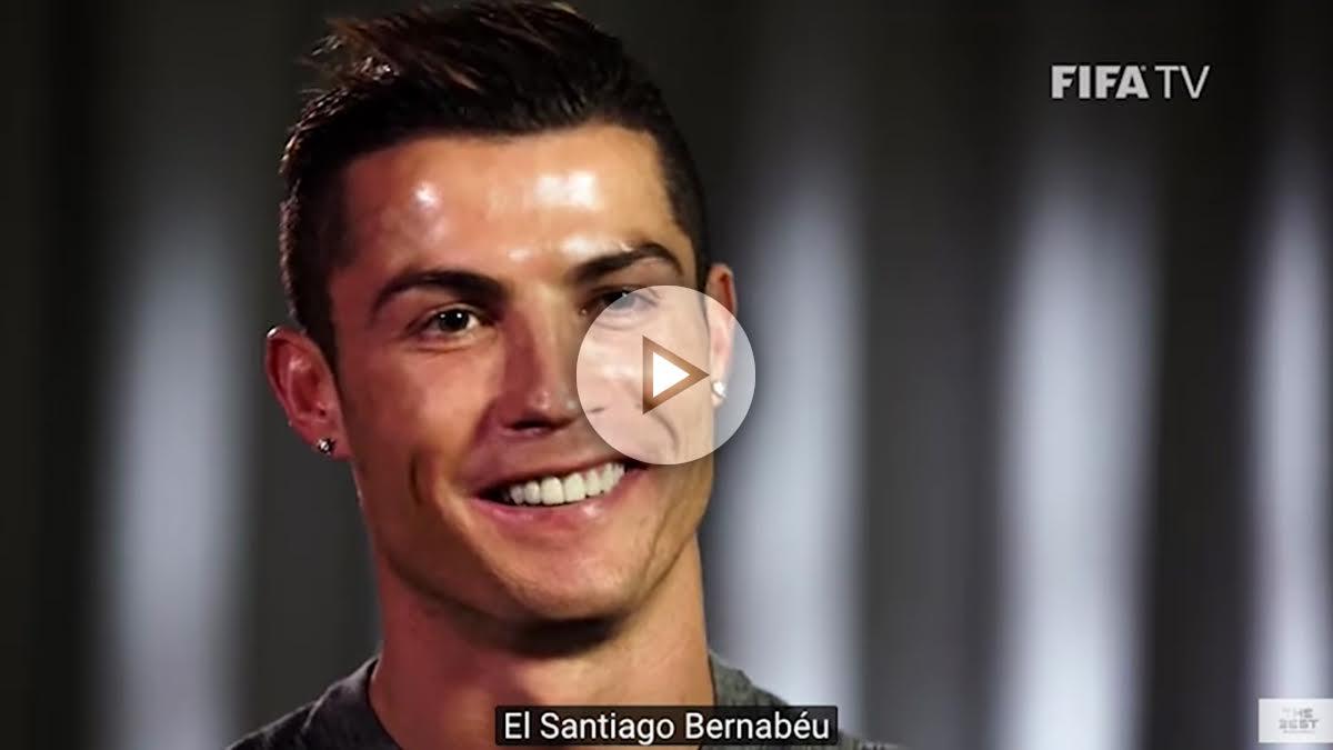 Cristiano Ronaldo durante una entrevista con la FIFA.