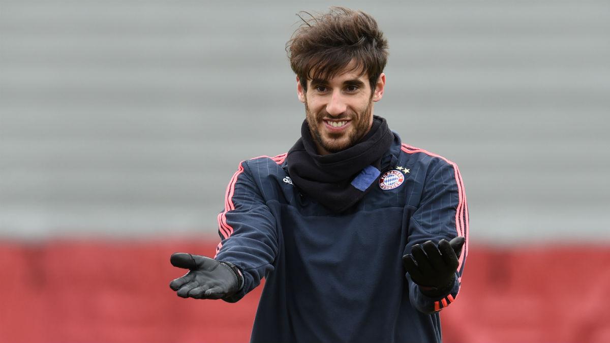 Javi Martínez en un entrenamiento con el Bayern. (AFP)