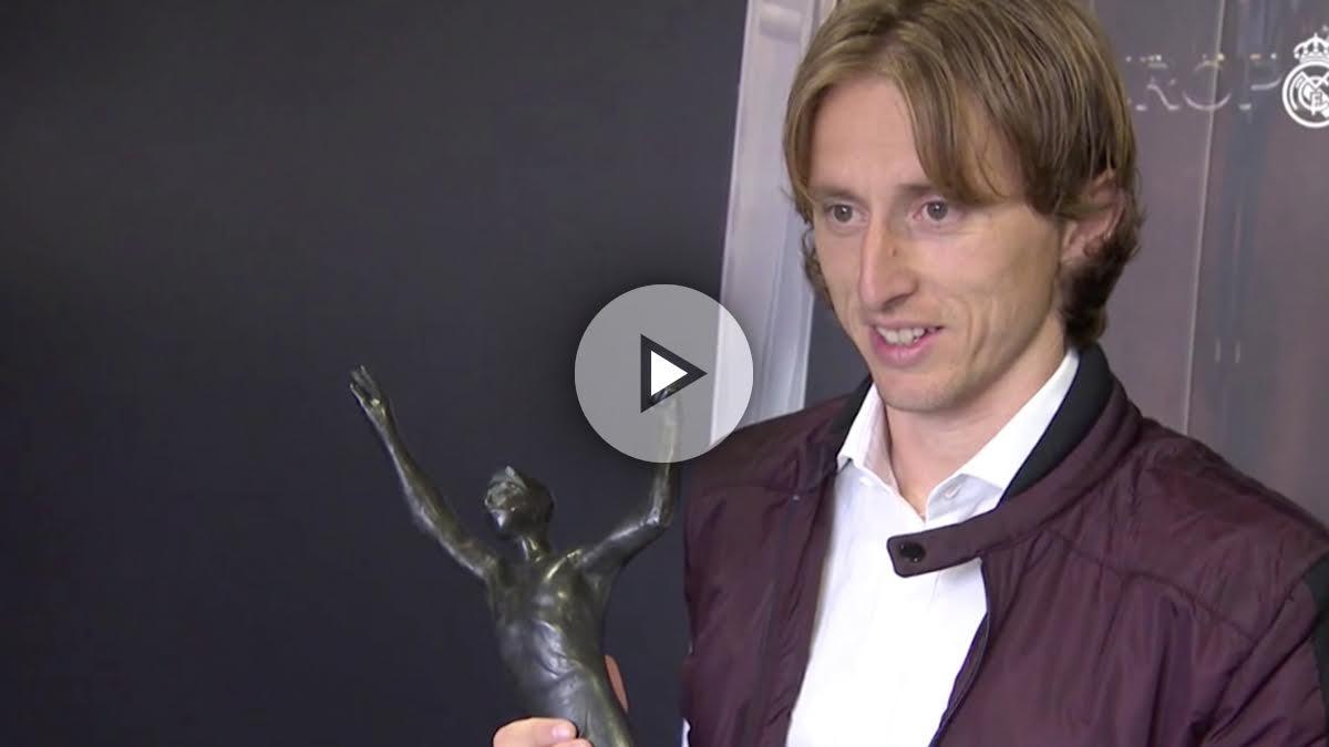 Luka Modric, elegido mejor jugador de Croacia por quinta vez. (realmadridtv)