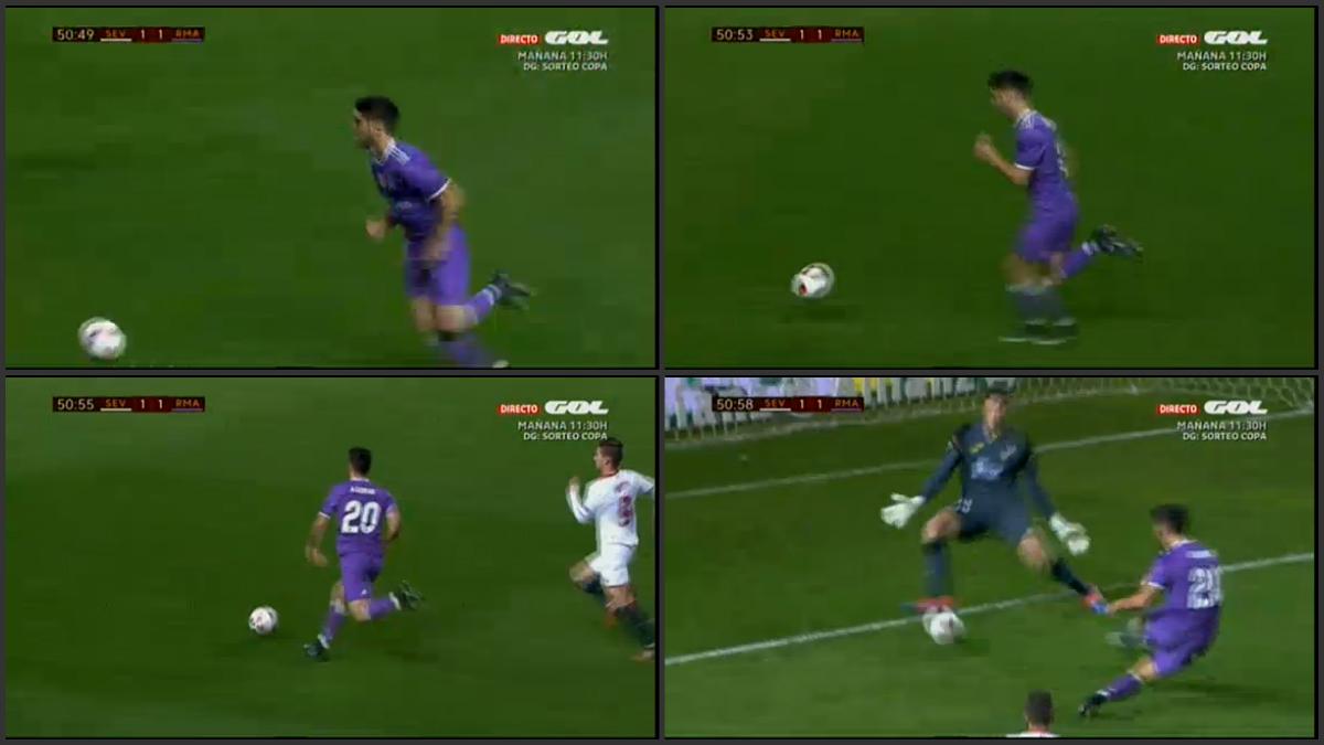 Secuencia del gol de Asensio.