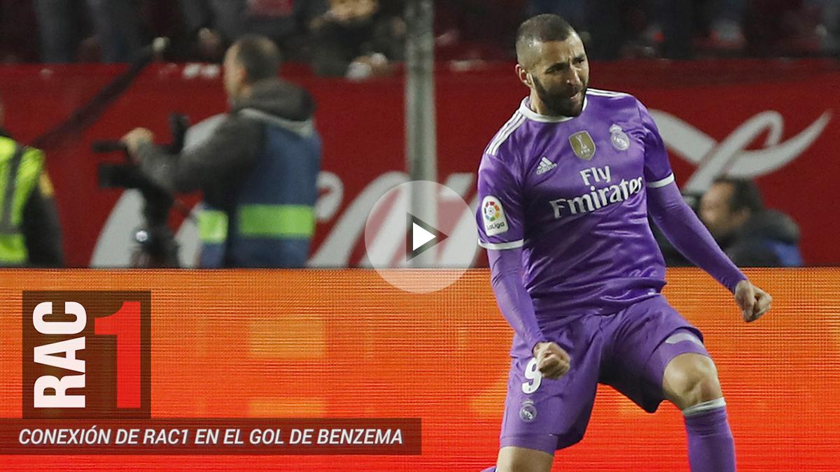 Benzema celebra el gol que enfureció al periodista de RAC1.