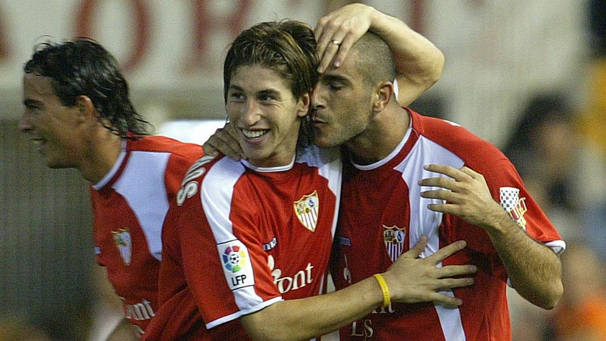 Sergio Ramos, en un partido con el Sevilla.  (AFP)