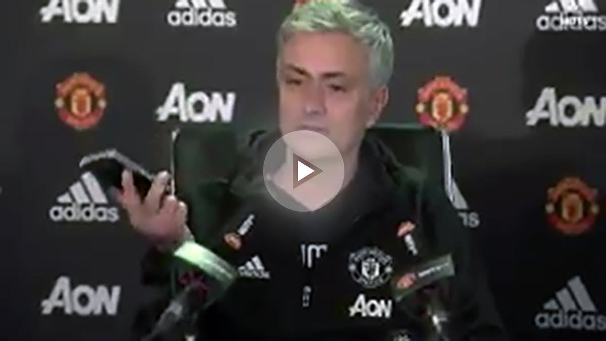José Mourinho en rueda de prensa. (MUTV)