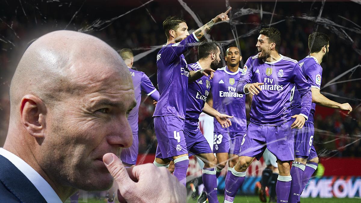 Zidane admite que se equivocó en el Pizjuán