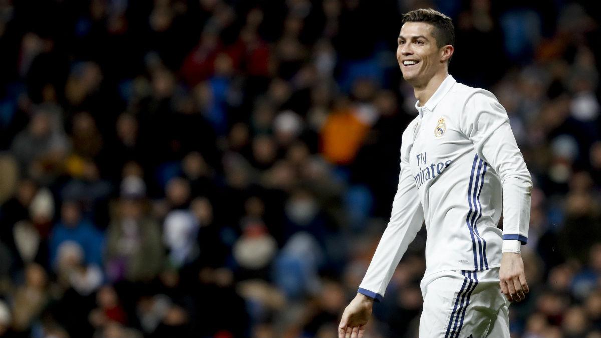 Cristiano Ronaldo, en el partido contra el Celta. (EFE)