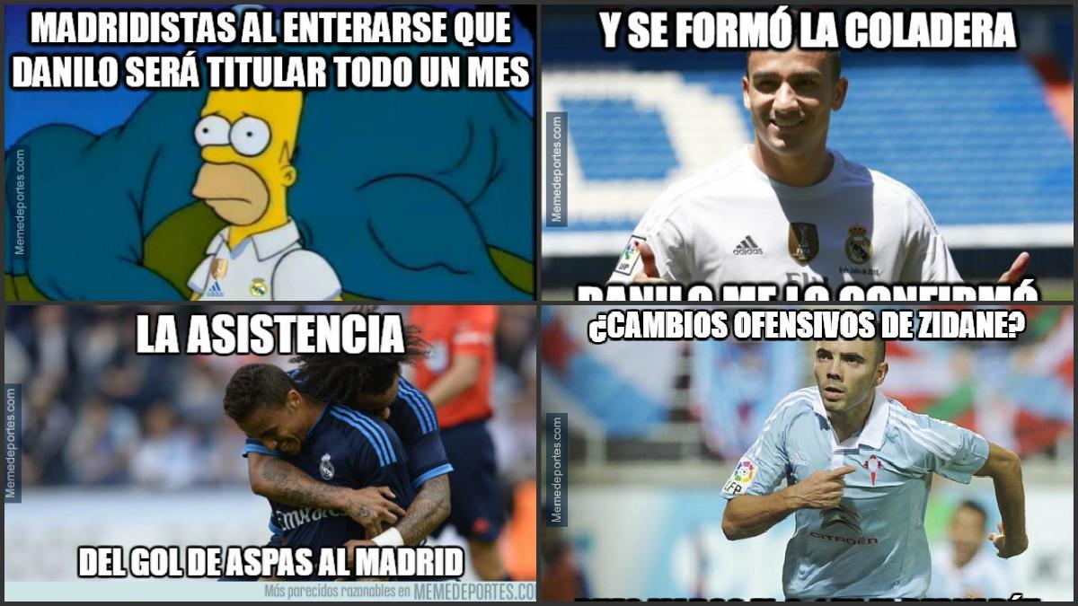 Danilo, protagonista de los memes del Real Madrid vs Celta de Copa del Rey.