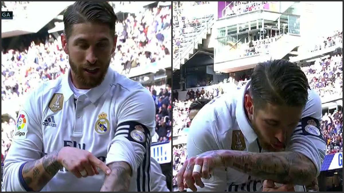 Sergio Ramos dedicó el gol a su madre.