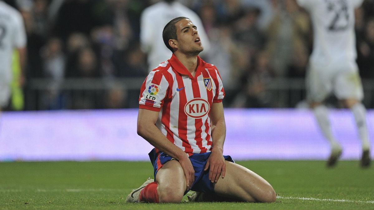 Álvaro Domínguez, en un partido del Atlético. (Getty)