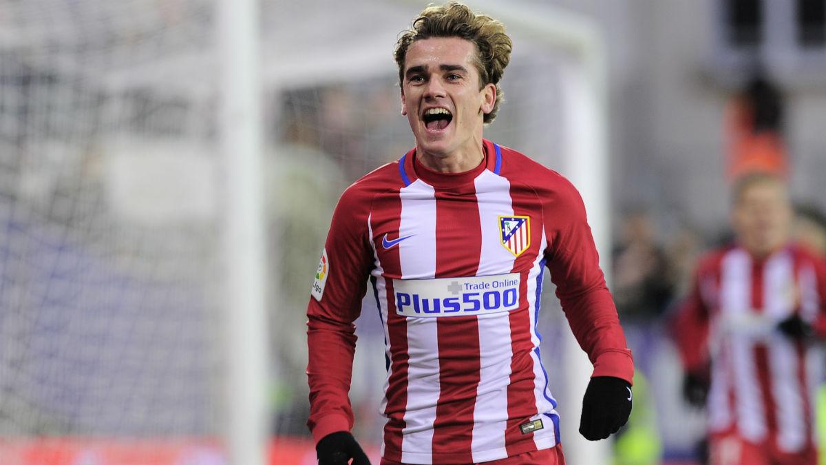 Griezmann celebra un gol con el Atlético. (AFP)