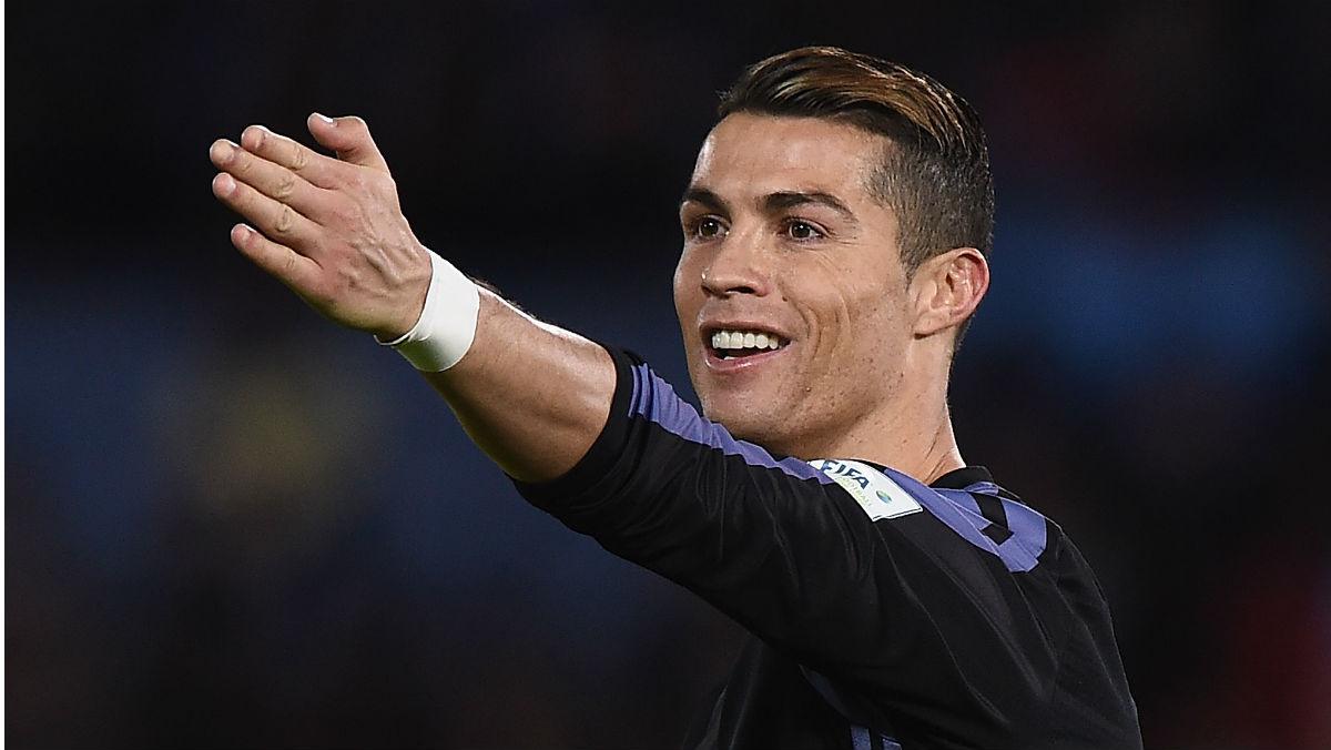 Cristiano Ronaldo durante un partido con el Real Madrid. (Getty)