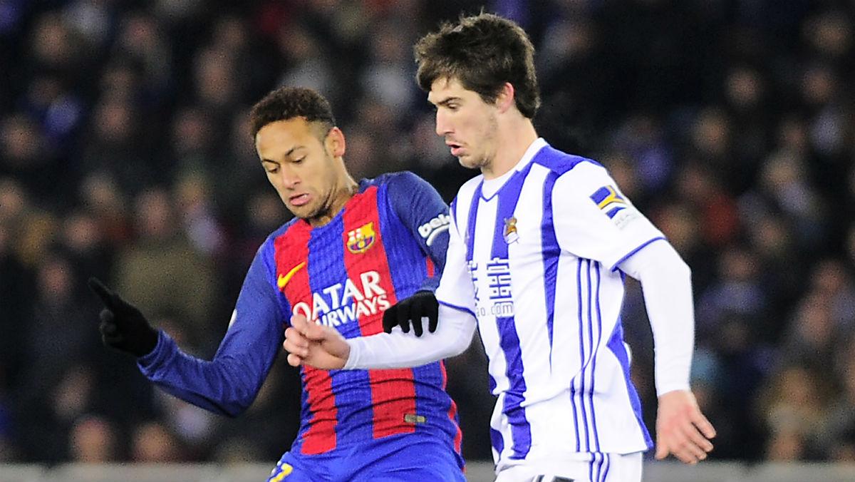 Barcelona Vs Real Sociedad. (AFP)