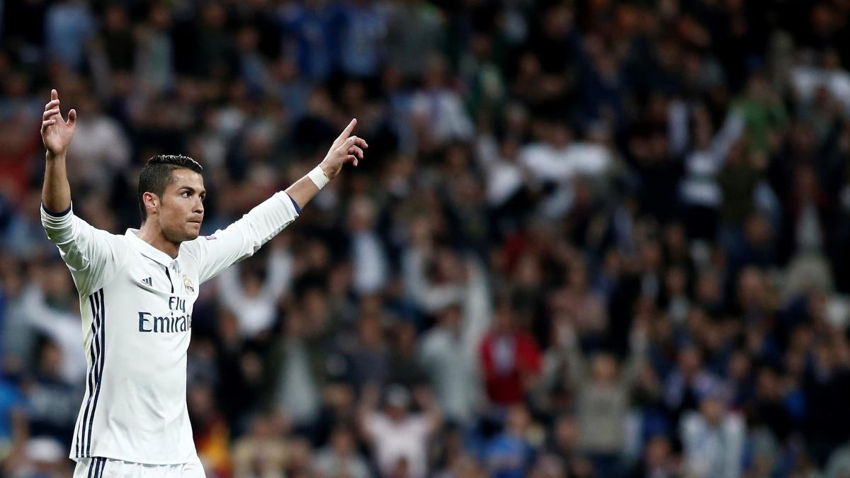 Cristiano Ronaldo, en el Santiago Bernabéu